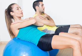 Physiotherapy Ball Routine